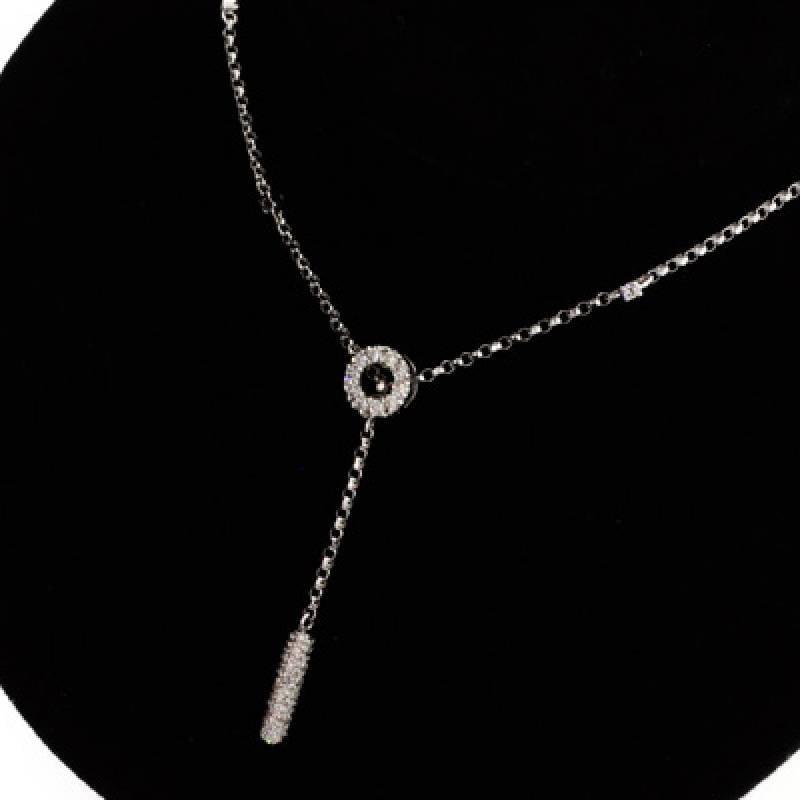 APP: 3.3k *18 kt. White Gold, 0.46CT Diamond Necklace