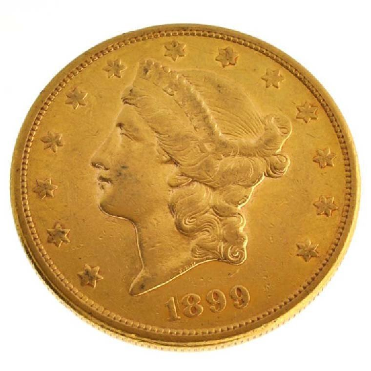 1899-S $20 U.S Liberty Head Type Gold Coin - Investment