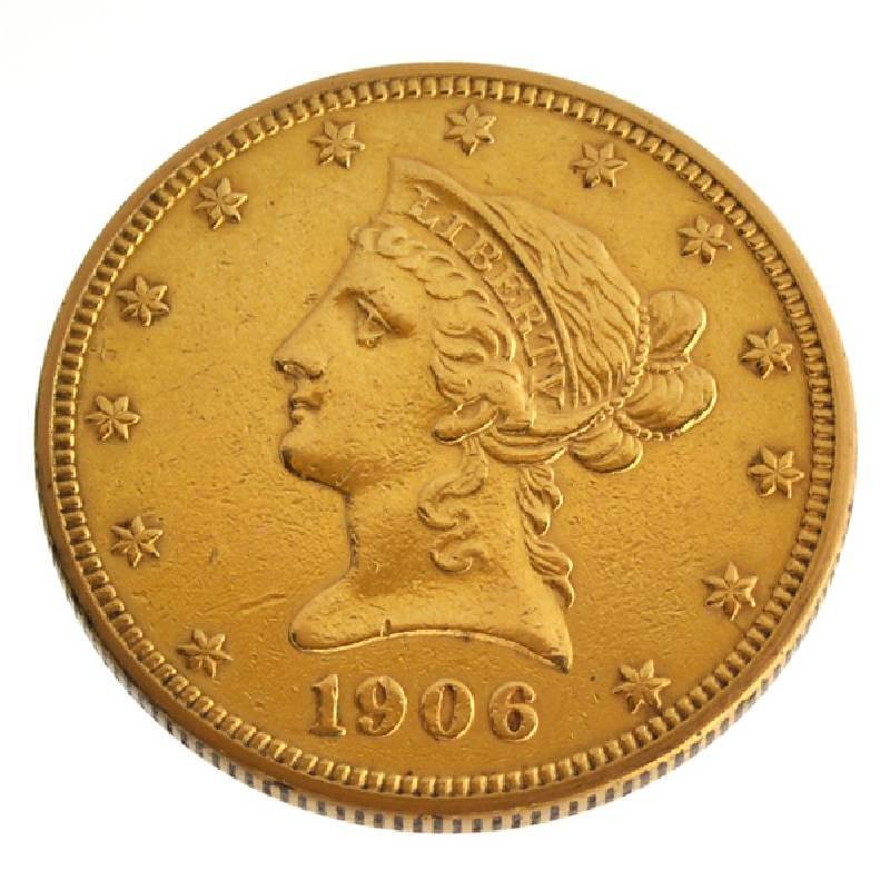 1906 $10 U.S Liberty Head Type Gold Coin - Investment