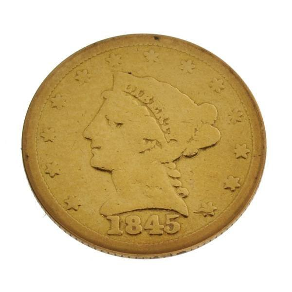 1845 U.S. $2.5 Liberty Head Gold Coin - Investment