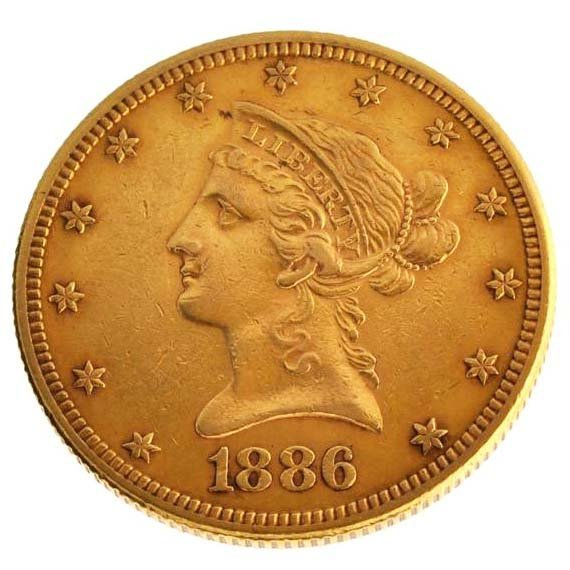 1886-S $10 U.S Liberty Head Type Gold Coin - Investment