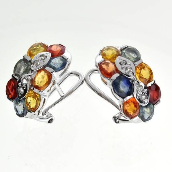 APP: 4k Semi-Precious Gemstone & Topaz Silver Earrings
