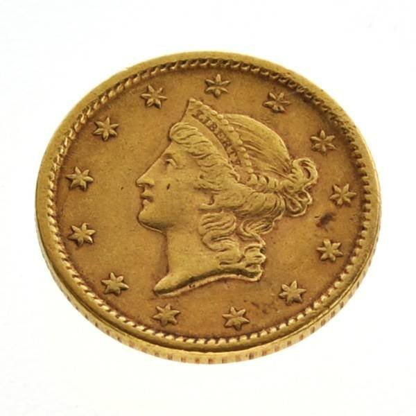 1851 $1 US Liberty Head Type Gold Coin - Investment