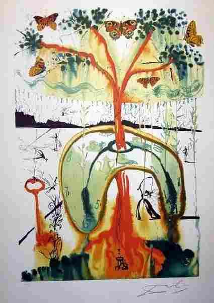SALVADOR DALI A Mad Tea Party Print, Limited Edition