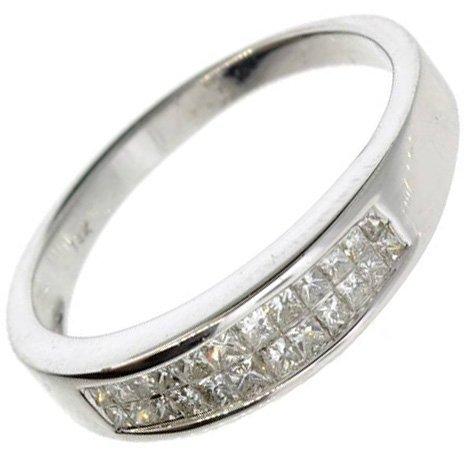 APP: 4k 14kt White Gold, 0 CT Princess Cut Diamond Ring