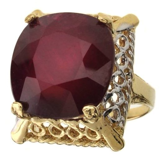 APP: 18.2k 14 kt Gold 19.42CT Oval Cut Ruby Ring