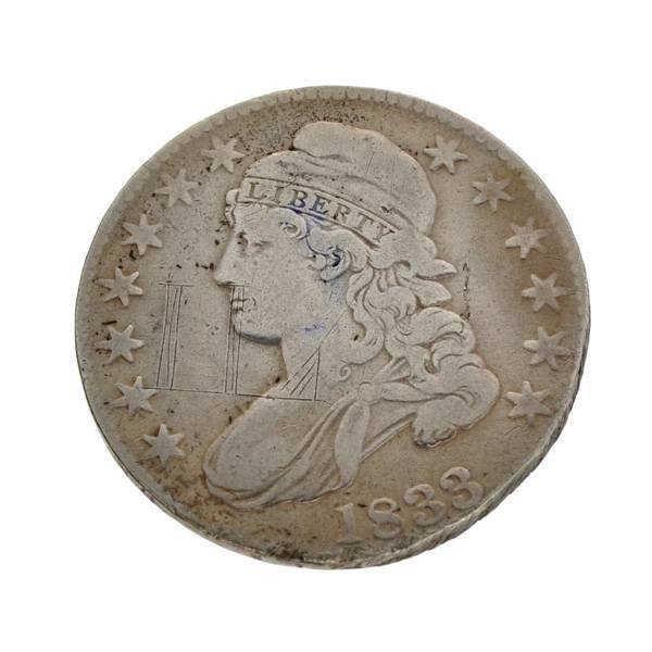 1833 U.S 50 Cents Capped Bust Type Coin - Investment