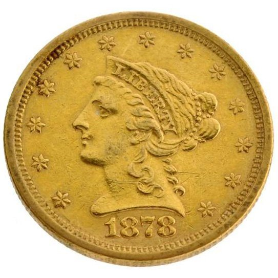 1878-S $2.5 U.S. Liberty Head Gold Coin - Investment