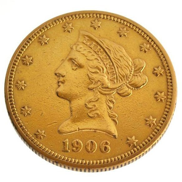 *1906 $10 U.S Liberty Head Type Gold Coin - Investment