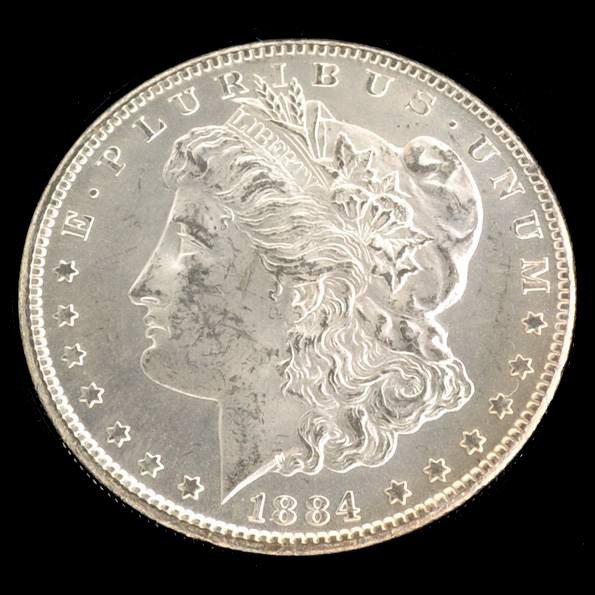 1884-CC Morgan Silver Dollar Coin - Investment
