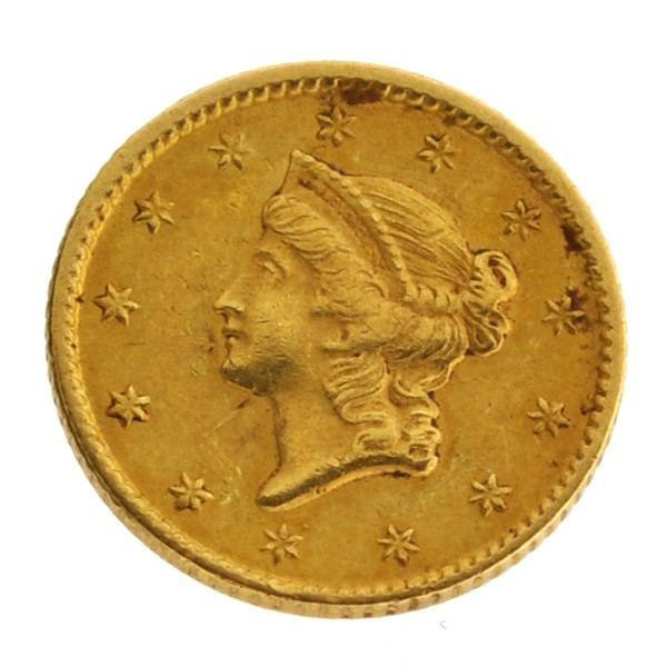1851 $1 U.S. Liberty Head Gold Coin - Investment