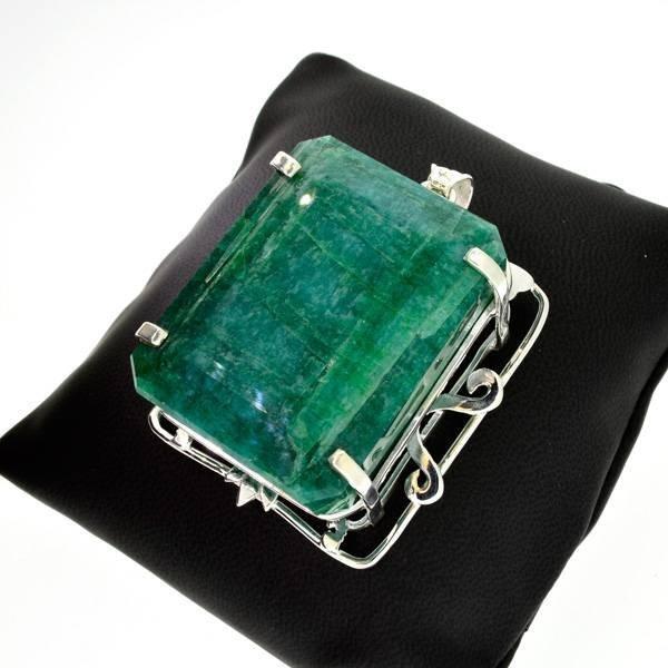 APP: 22.8k 504.89CT Emerald & Sterling Silver Pendant