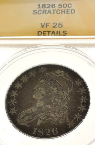 1826 Bust 50 Cents Anacs VF25 Coin - Investment