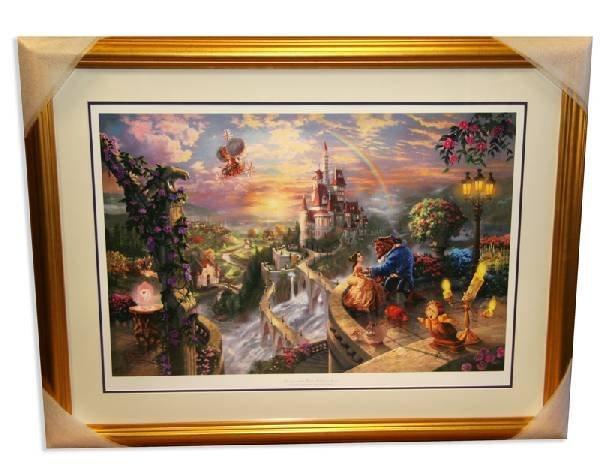 "Thomas Kinkade - Museum Framed ""Beauty & the Beast"""