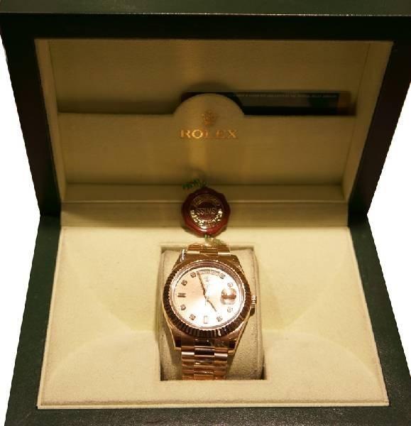 Rose Gold Men's Rolex Day-Date II (New Model) Watch