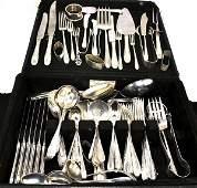 *Antique Sterling Silver 133 Piece Flatware Set
