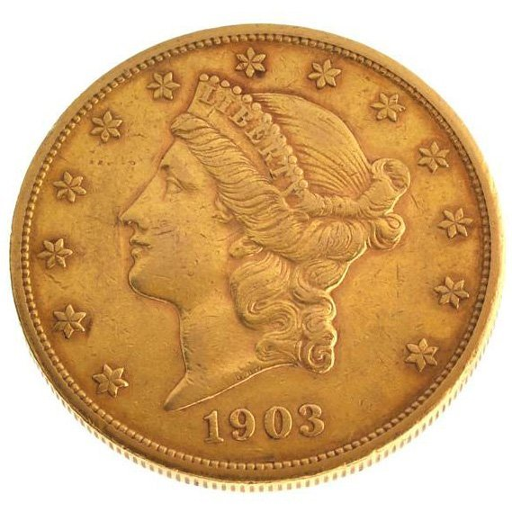 *1903-S $20 U.S Liberty Head Type Gold Coin