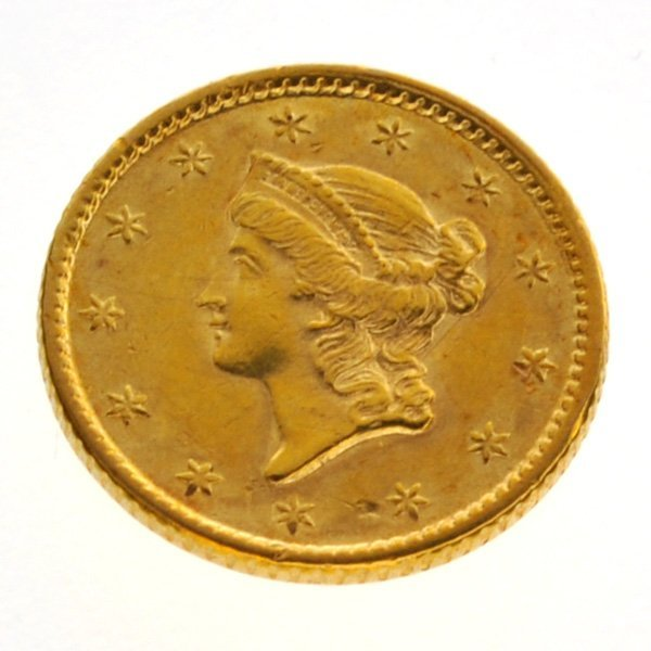 1853 $1 US Liberty Head Type Gold Coin - Investment