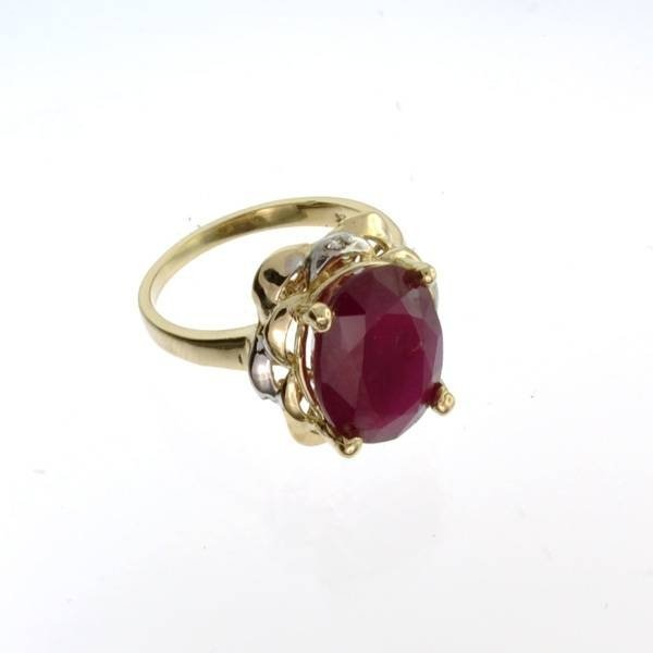 APP: 8.9k 14 kt. Yellow & White Gold, 7.28CT Ruby Ring
