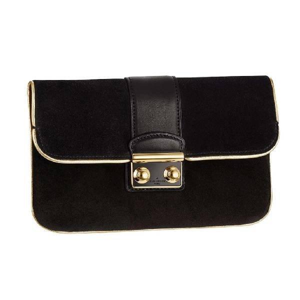 Louis Vuitton Slim Suede Coal Handbag -P-