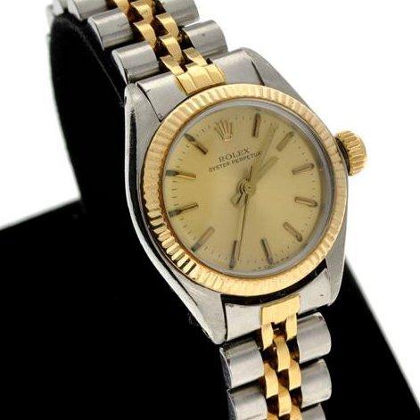 Rolex Women's Oyster Perpetual Gold Watch