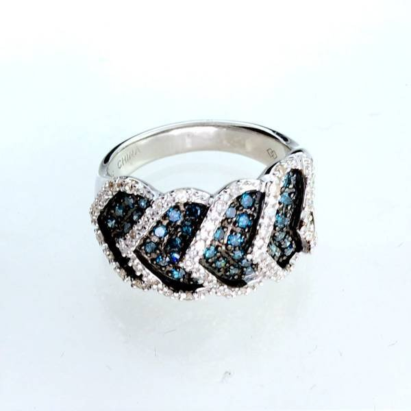 APP: 2k  Diamond & Platinum Sterling Silver Ring