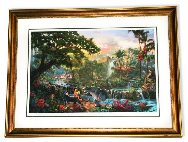 Kinkade Framed Lithograph-Signature ''Jungle Book''