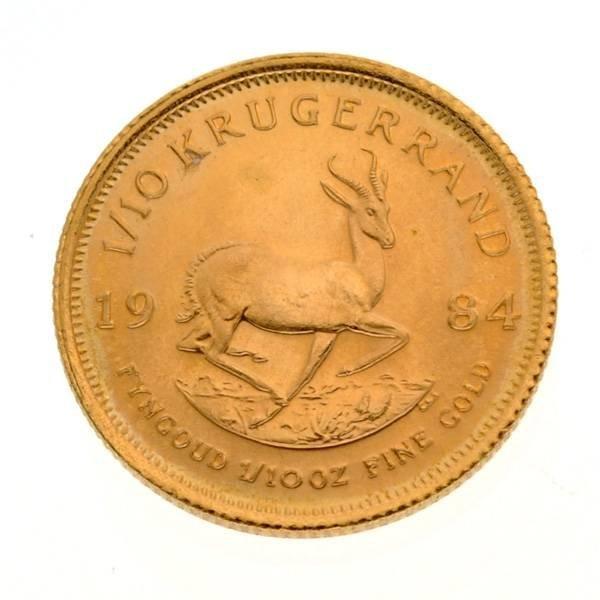 1984 1/10 oz 999 Gold Krugerrand Coin - Investment - 2