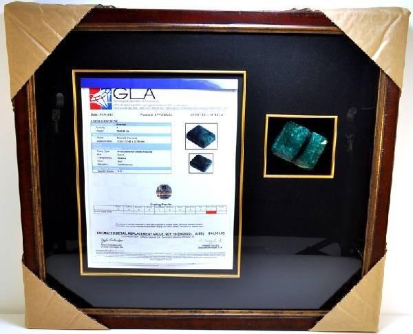 APP: 48k 1380CT Museum Framed Emerald Gemstone