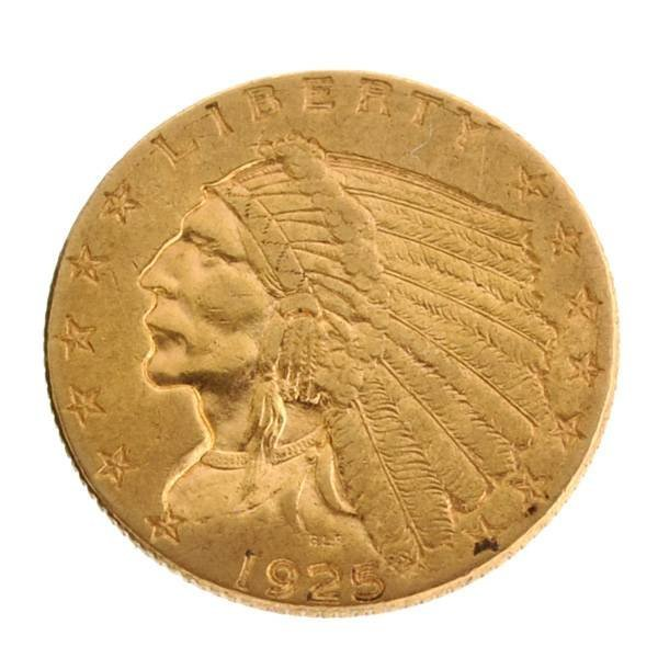 *1925 $2.5 U.S Indian Head Type Gold Coin - Investment