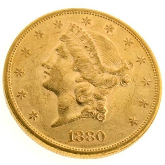 *1880-S $20 U.S Liberty Head Type Gold Coin