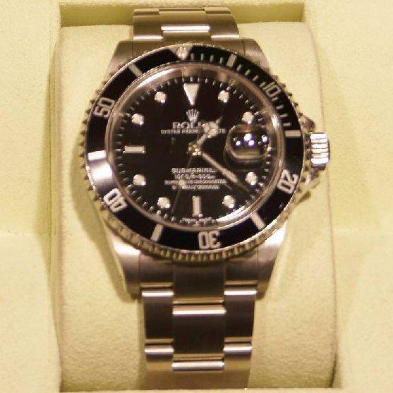 Men's Rolex Submariner (Black Dial) Year 2002 40mm Watc