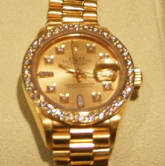 18kt Yellow Gold Lady's Rolex Datejust Watch
