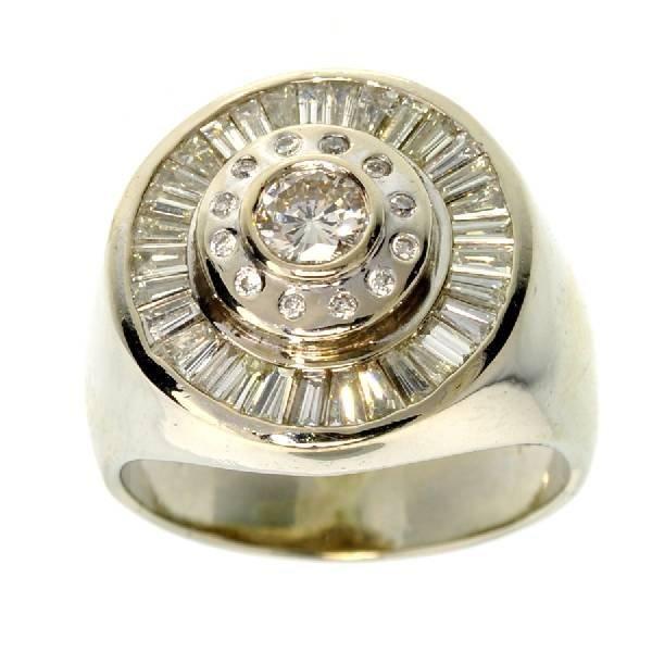 APP: 12.6k *14 kt. White Gold, 1.42CT Diamond Ring