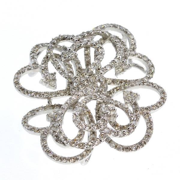 APP: 11.9k *18 kt. White Gold, 2.19CT Diamonds Pendant
