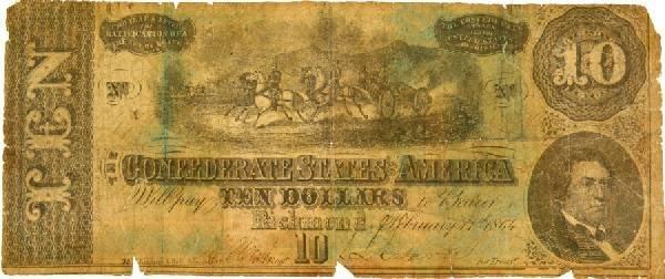 $10 Confederate Note