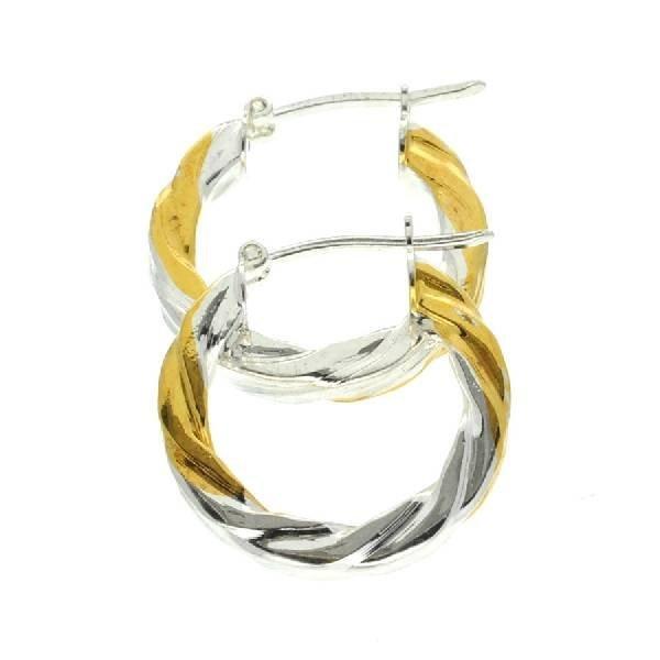 18 kt Gold Over Sterling Silver Earrings
