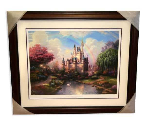 "Thomas Kinkade - ""A New Day at Cinderella's Castle"""
