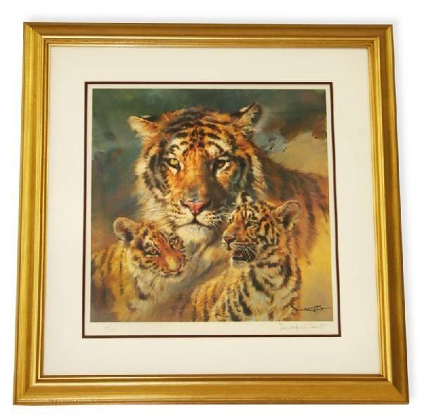 Donald Grant- Framed-Signature ''Tigers & Cats''