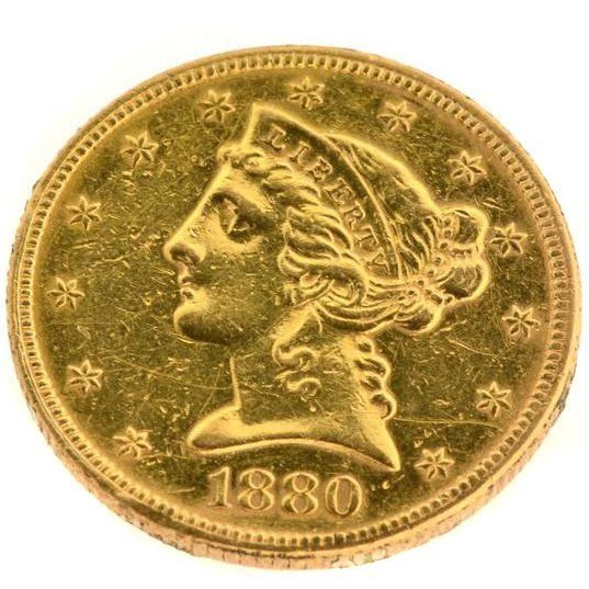 1880 $5 U.S. Liberty Head Gold Coin - Investment