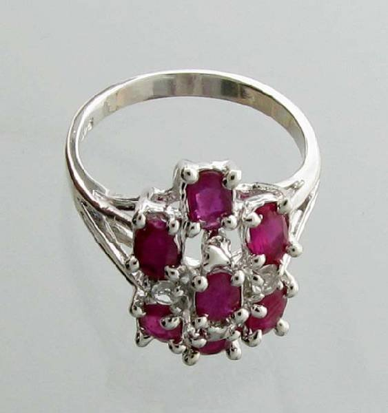 APP: 2.7k 1.80CT Ruby & Topaz Sterling Silver Ring