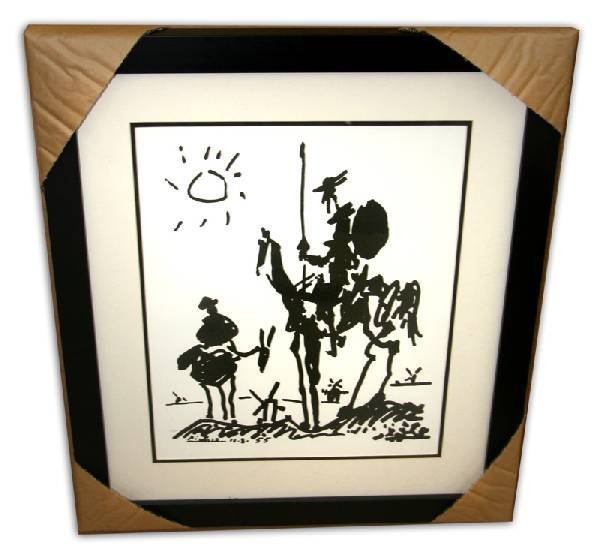 Pablo Picasso 'Don Quixote' Museum Framed & Matted