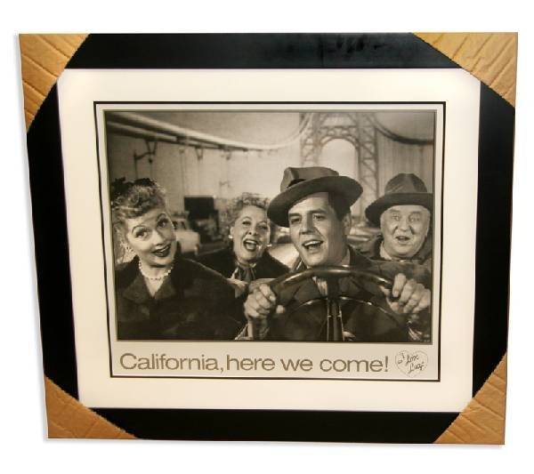 """I Love Lucy - Lithograph """"California Here We Come"""""""