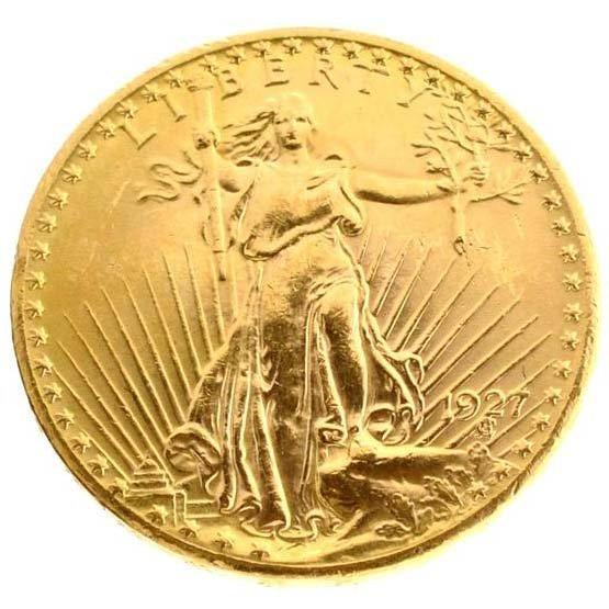 *1927 $20 U.S Saint-Gaudens Type Gold Coin - Investment