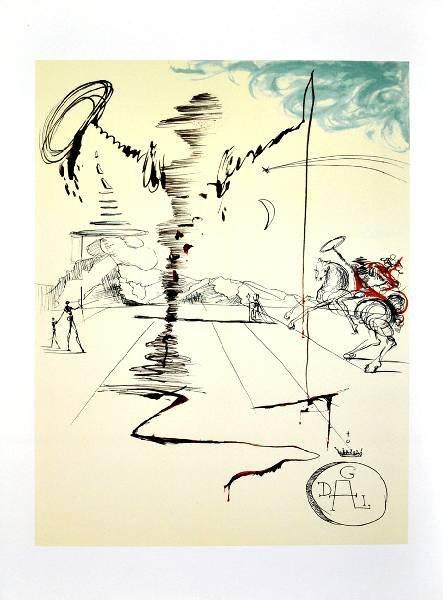 SALVADOR DALI Chevalier Print, Limited Edition