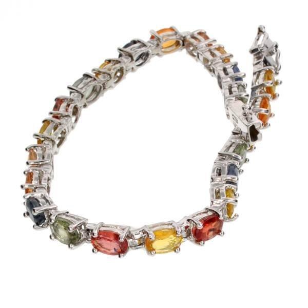 APP: 8k 13CT Semi-Precious Gemstones & Silver Bracelet