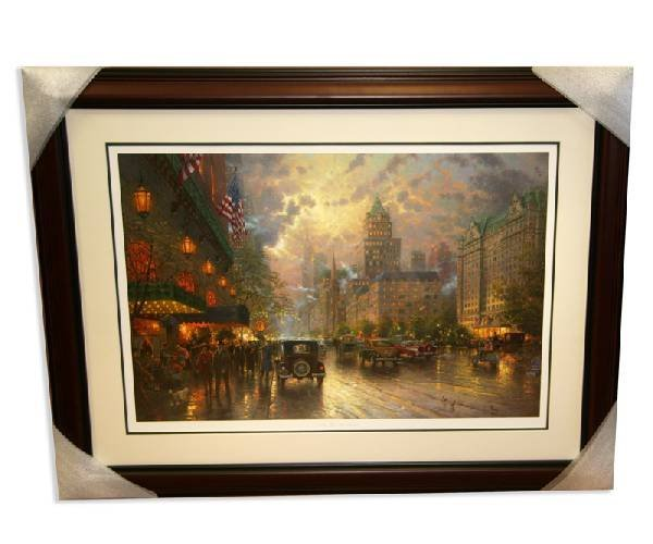 "Thomas Kinkade - Signed "" New York Fifth Ave"" Rare"