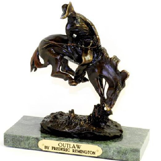 Outlaw- By Frederic Remington-Bronze Reissue