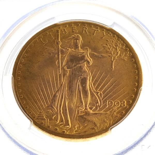 *1908 $20 Saint Gaudens Type Gold Coin - Investment