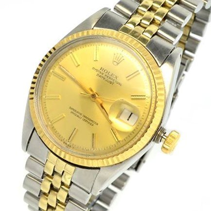 Rolex Men's Oyster Perpetual & Gold Watch